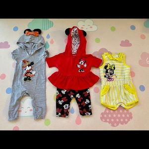 Disney Baby Girl Outfits - Bundle of 4